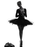 少妇芭蕾舞女演员跳芭蕾舞者跳舞 免版税库存照片