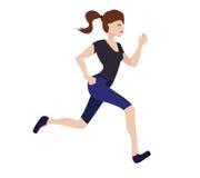 少妇赛跑 库存图片