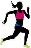少妇运动员赛跑者 皇族释放例证