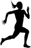 少妇运动员赛跑者 向量例证