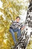 少年上升结构树 库存照片