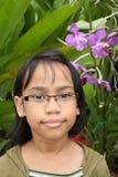 少年亚裔的女孩 库存图片