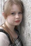 少年女孩的headshot 图库摄影