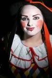 少年小丑的女性 免版税库存图片