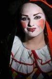 少年小丑的女性 库存图片