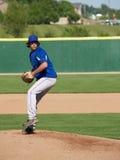 少年棒球的投手 免版税库存图片