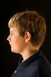 少年男孩的配置文件 免版税库存图片