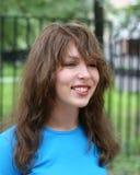 少年的女孩 免版税图库摄影
