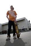 少年的溜冰板者 库存图片