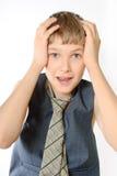 少年的纵向 免版税库存照片