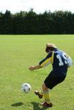 少年的足球运动员 免版税库存图片