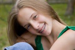 少年美丽的女孩 库存照片