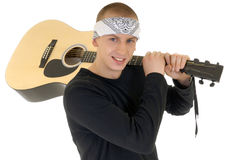 少年艺术家的歌唱家 免版税库存图片
