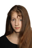 少年长期女孩的头发 图库摄影