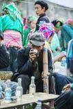 少数族裔人在餐馆,在老东范market 图库摄影