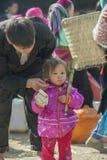 少数族裔在老东范market生和女孩, 库存照片