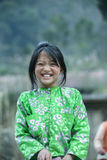 少数族裔孩子在肺凸轮村庄微笑着 图库摄影