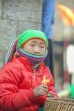 少数族裔孩子,在老东范market 免版税库存照片