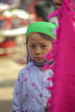 少数族裔孩子,在老东范market 库存照片