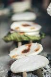 少数族裔蛋糕,在老东范market 免版税库存图片