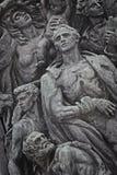 少数民族居住区犹太纪念碑波兰起义 免版税库存照片