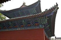 少林寺中国建筑风格房檐 库存图片