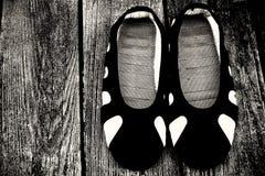 少林寺修士的鞋子 库存照片