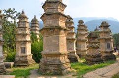 少林寺的塔森林 库存图片