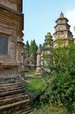 少林寺的塔森林 库存照片