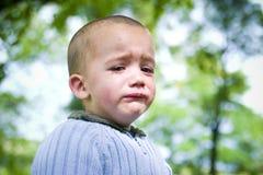 少许哭泣的男孩 库存照片