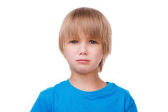 少许哭泣的男孩 图库摄影