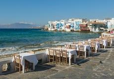 少许威尼斯, Mykonos海岛,希腊 免版税库存图片
