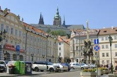 少许布拉格方形城镇 库存图片