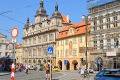 少许布拉格方形城镇 免版税库存照片