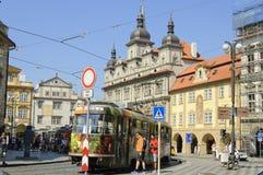 少许布拉格方形城镇 免版税图库摄影