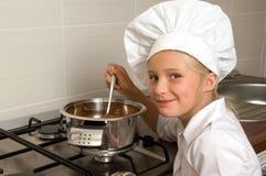 少许烹调女孩 免版税图库摄影
