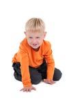 少许爬行的男孩 免版税库存照片