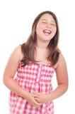 少许笑的女孩 免版税库存图片