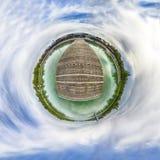 少许行星 球状360程度在S的无缝的全景视图 免版税库存图片