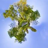 少许行星 球状360程度在S的无缝的全景视图 免版税图库摄影