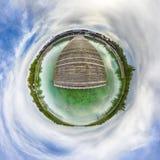 少许行星 球状360程度在S的无缝的全景视图 免版税库存照片