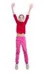 少许跳的女孩 免版税图库摄影