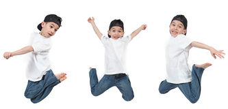 少许跳的男孩 免版税图库摄影