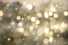 少许银色星形闪光 库存图片