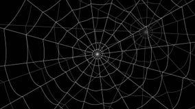 少量蜘蛛网移动反对黑背景 向量例证