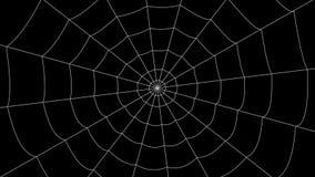 少量蜘蛛网移动反对黑背景 皇族释放例证