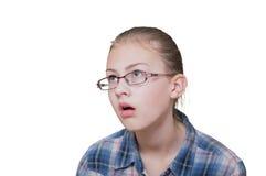 少年乏味的女孩 免版税库存照片