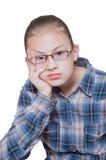 少年乏味的女孩 库存图片