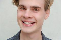 少年年轻人画象模型美国微笑 图库摄影