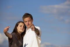 少年傲慢的夫妇 免版税库存照片